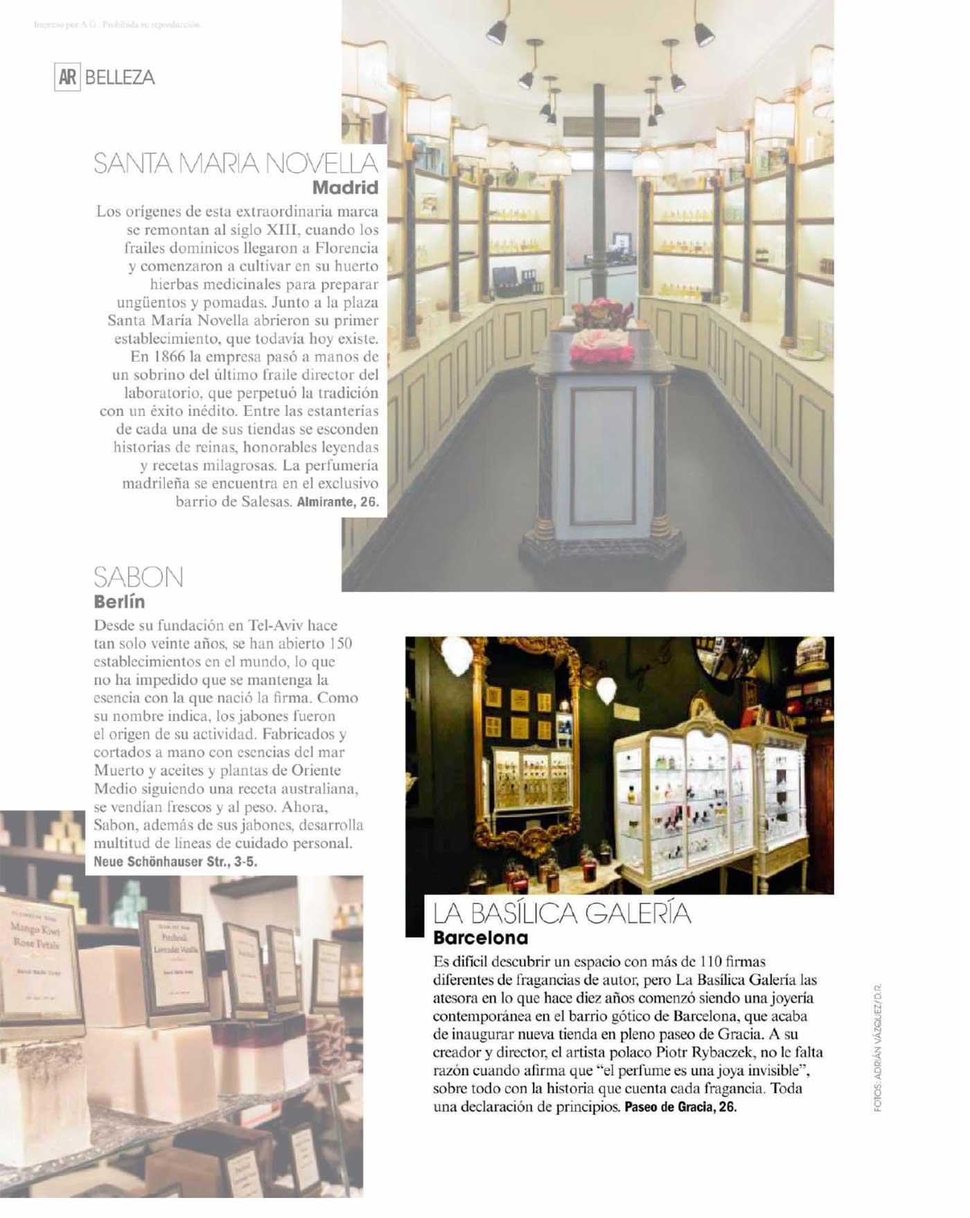 la basilica galeria en la revista de Ana Rosa
