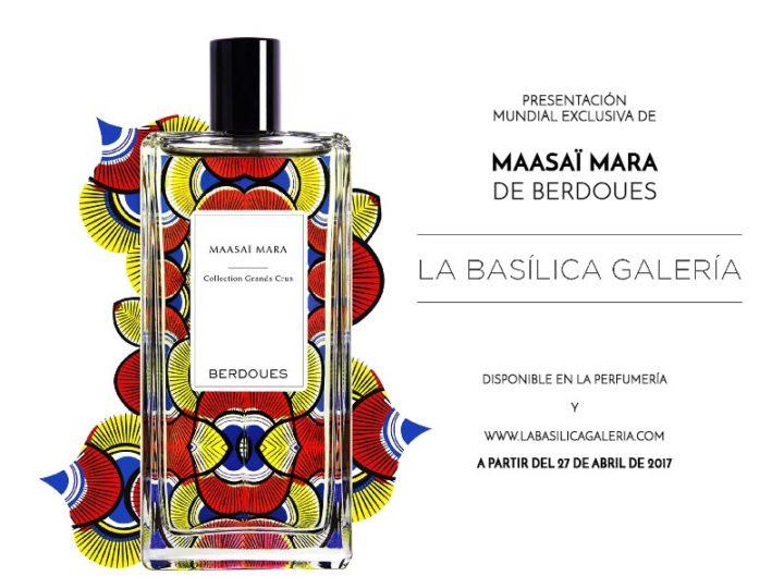 Presentación perfume MAASAÏ MARA de BERDOUES